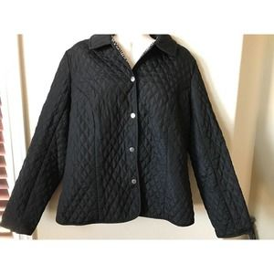 Briggs New York Quilted Button Up Collared Jacket